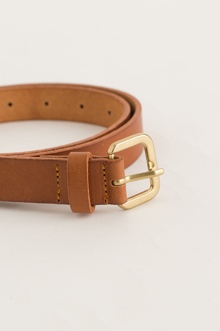 Siena Mini Square Belt, Camel
