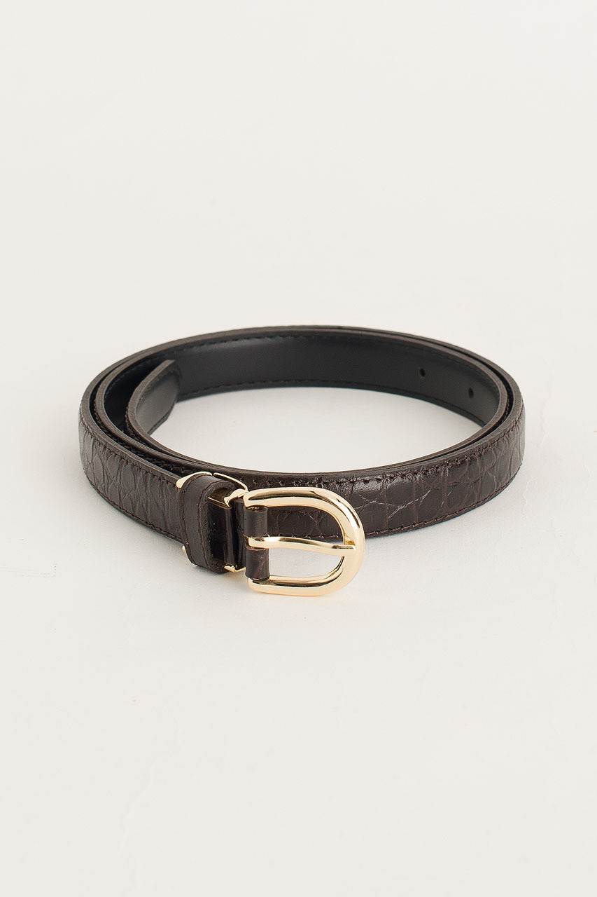 Siena Half Oval Belt, Brown