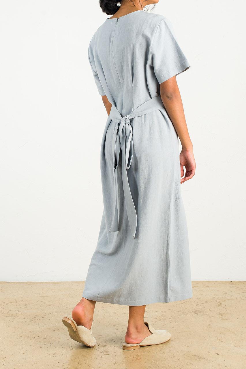 Dana Sash Long Dress, Pale Pink