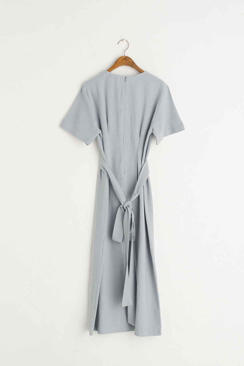 Dana Sash Long Dress, Pale Blue
