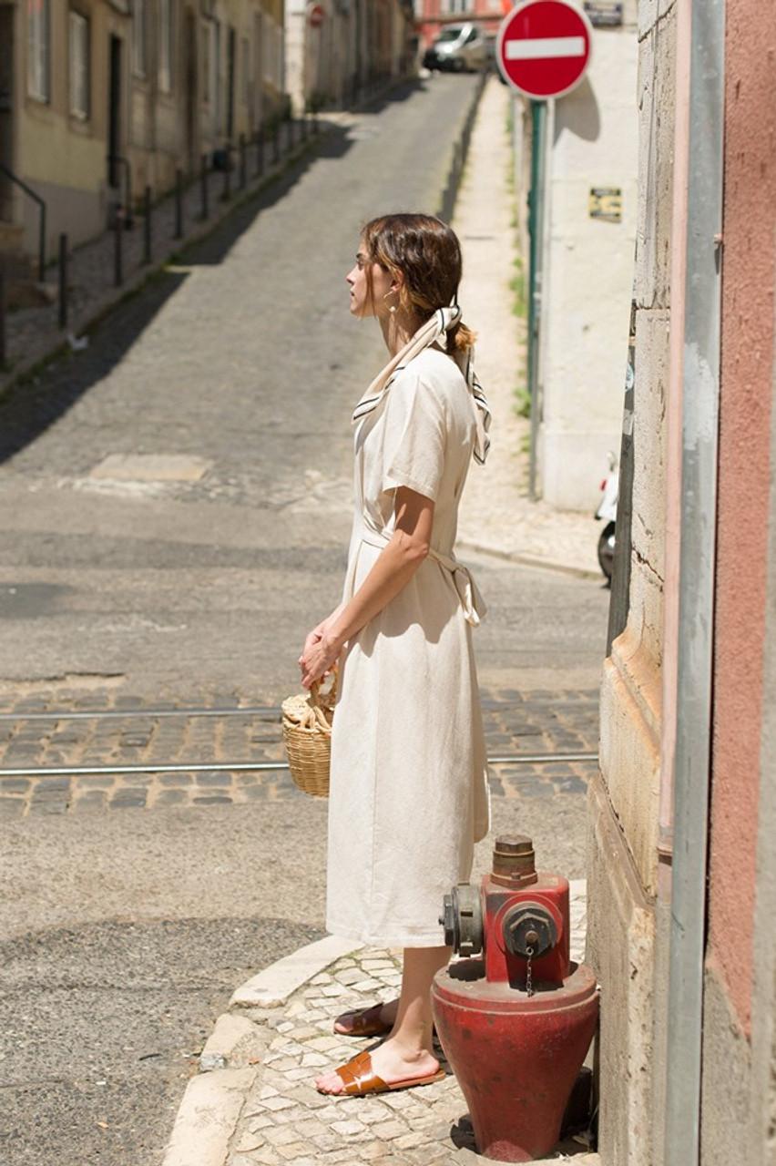 Dana Sash Long Dress, Pale Blue