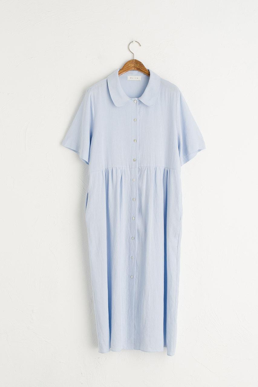 Wendy Button Down Dress, Sky Blue