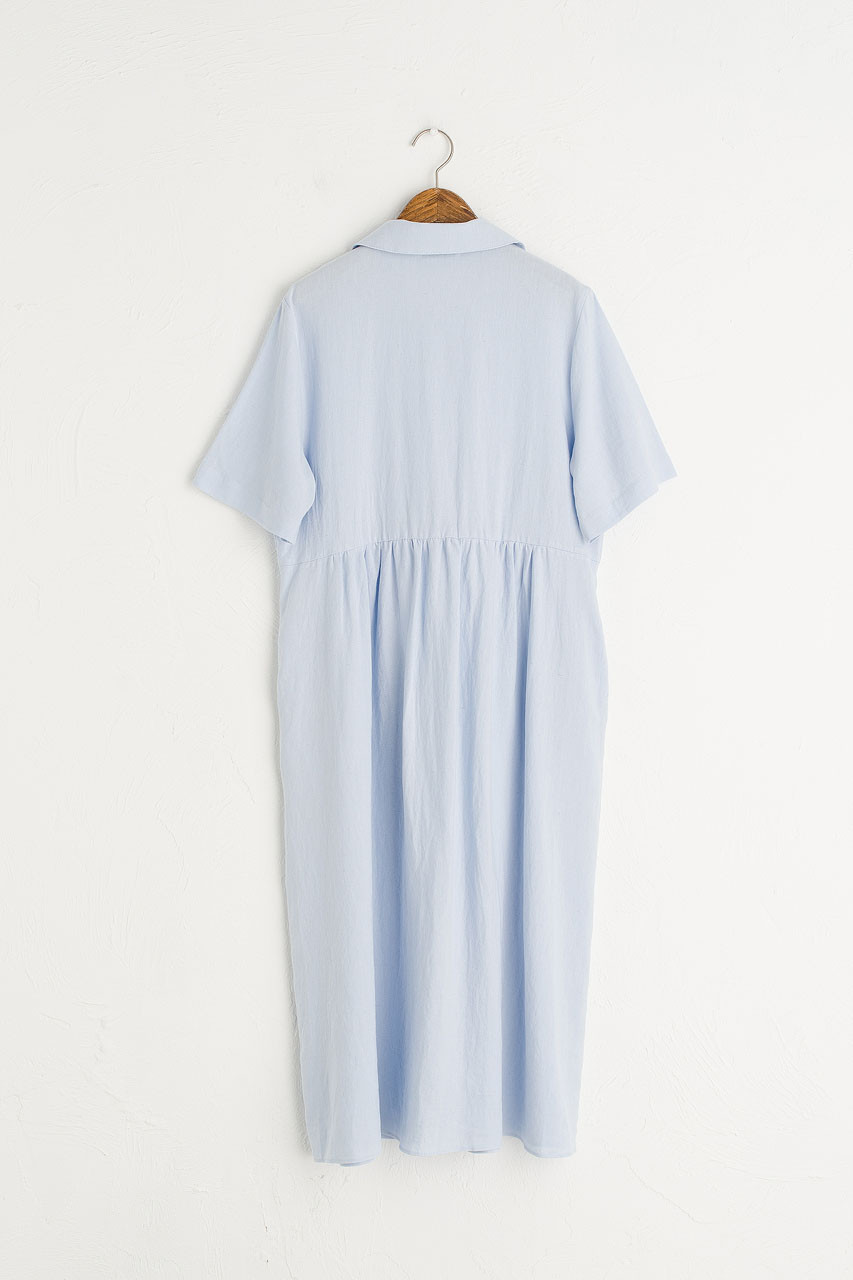 Wendy Button Down Dress, Sky Blue