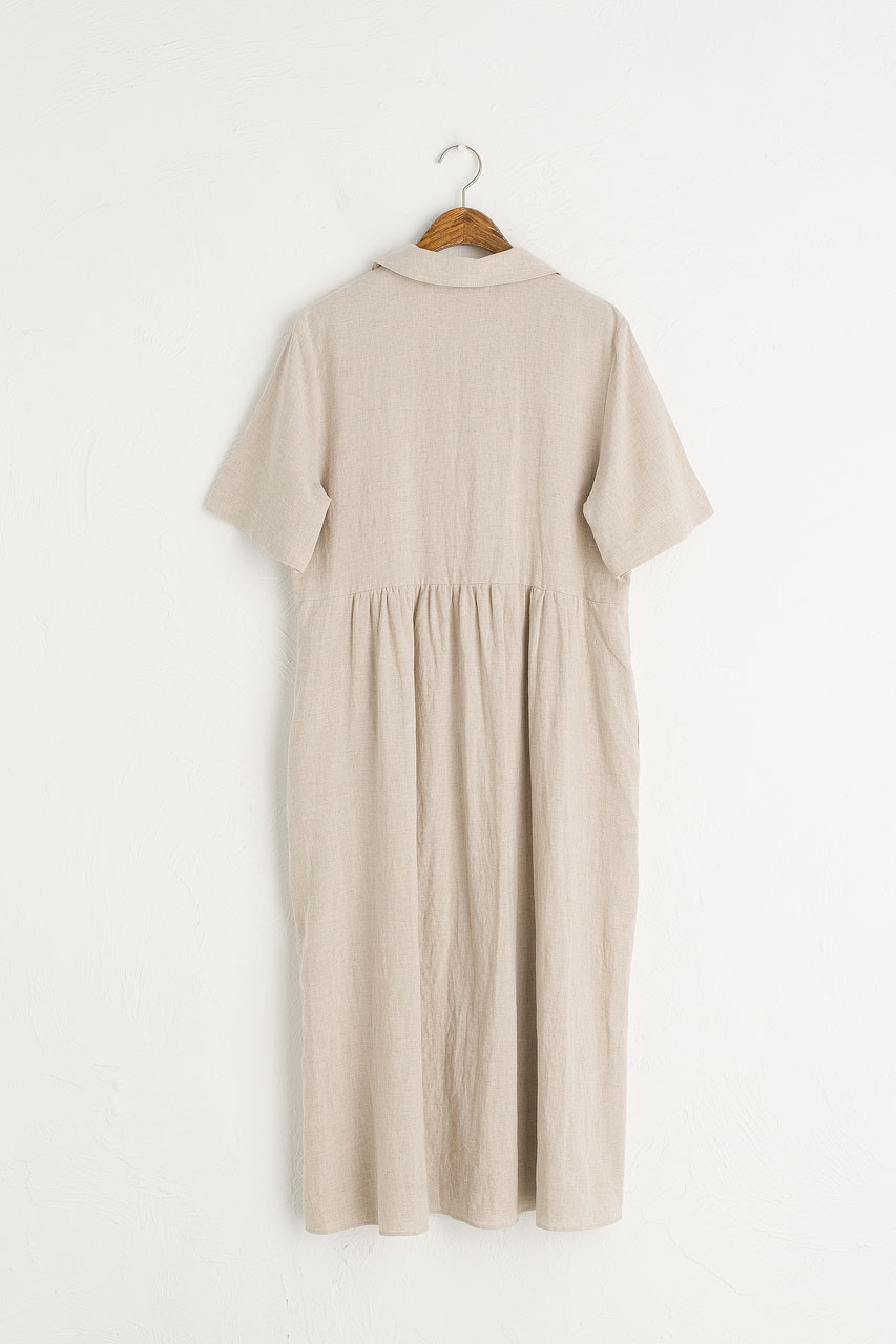 Wendy Button Down Dress, Oatmeal