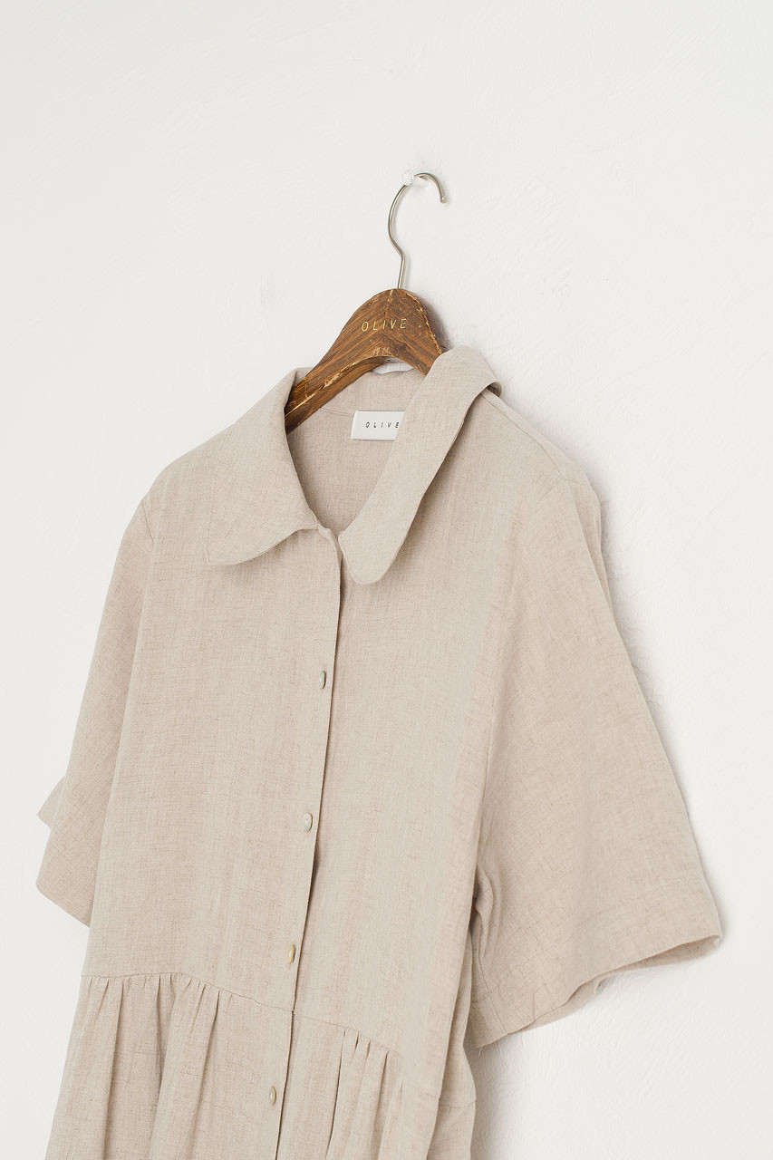 Wendy Button Down Dress, Oatmeal