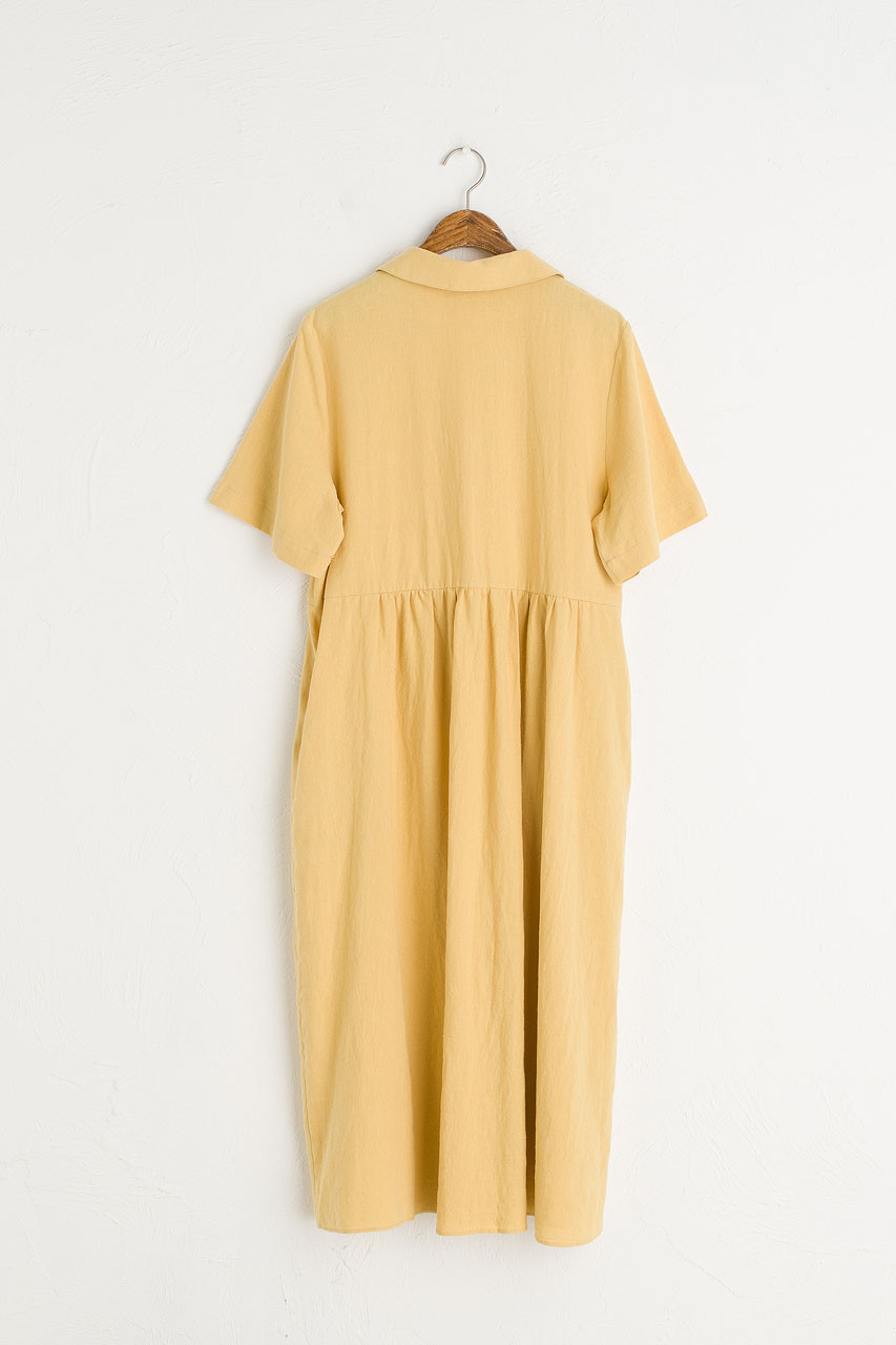 Wendy Button Down Dress, Mustard