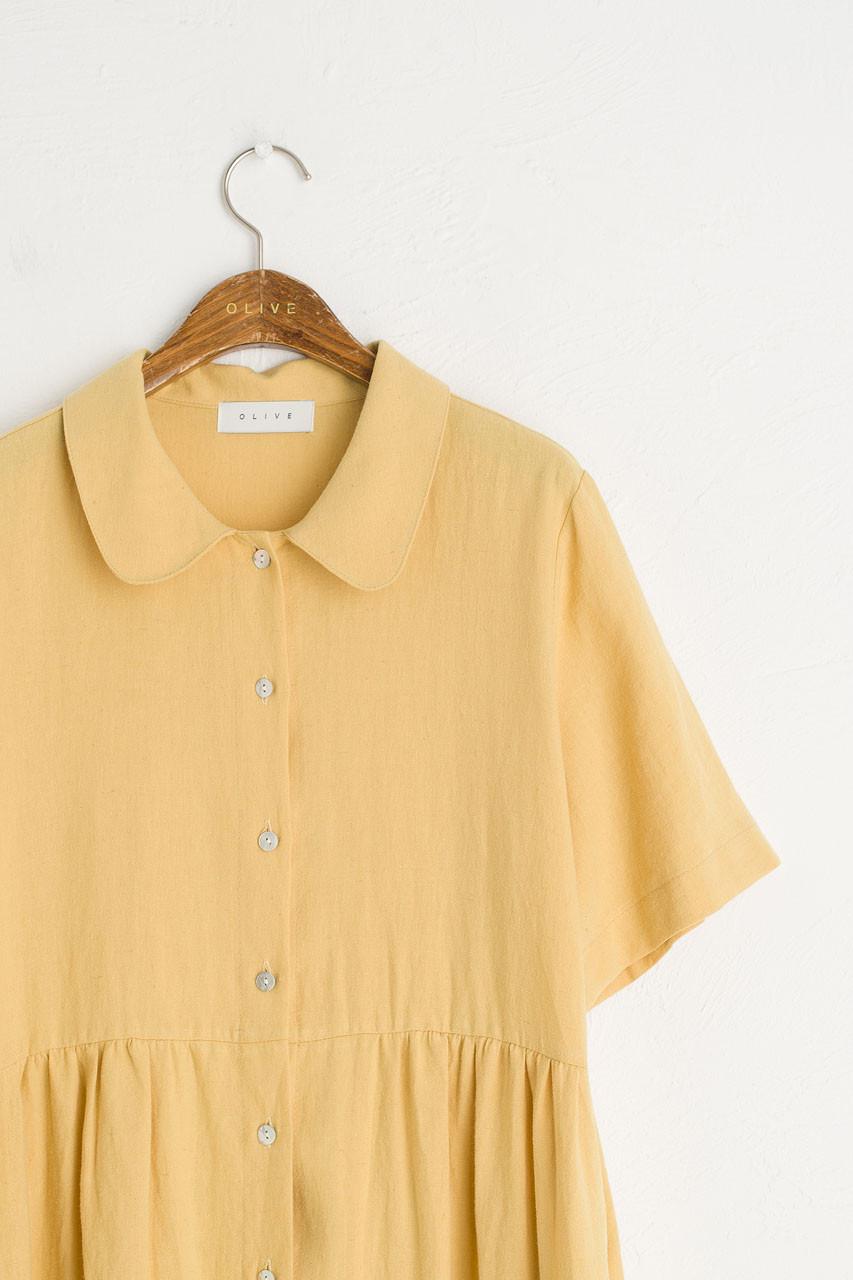 Wendy Button Down Dress, Mustard