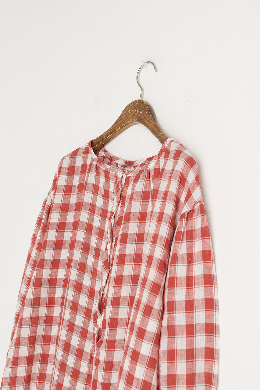 Mira Gingham Check Dress, Red
