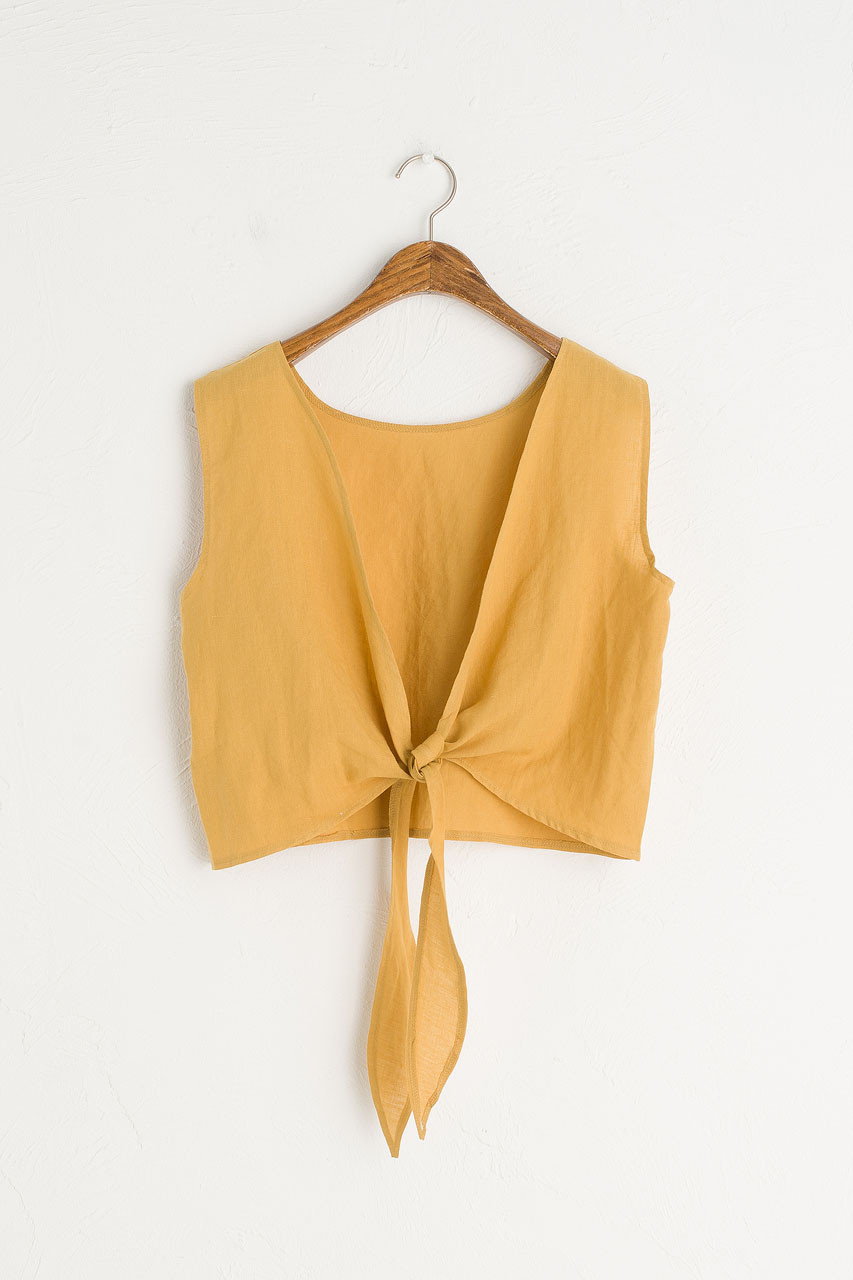 Marrisa Open Back Top, Mustard