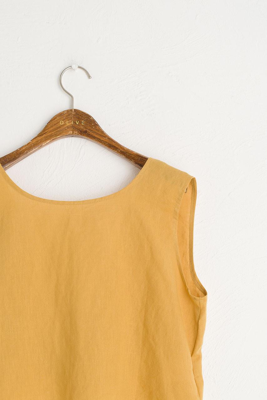 Marrisa Open Back Top, Mustard