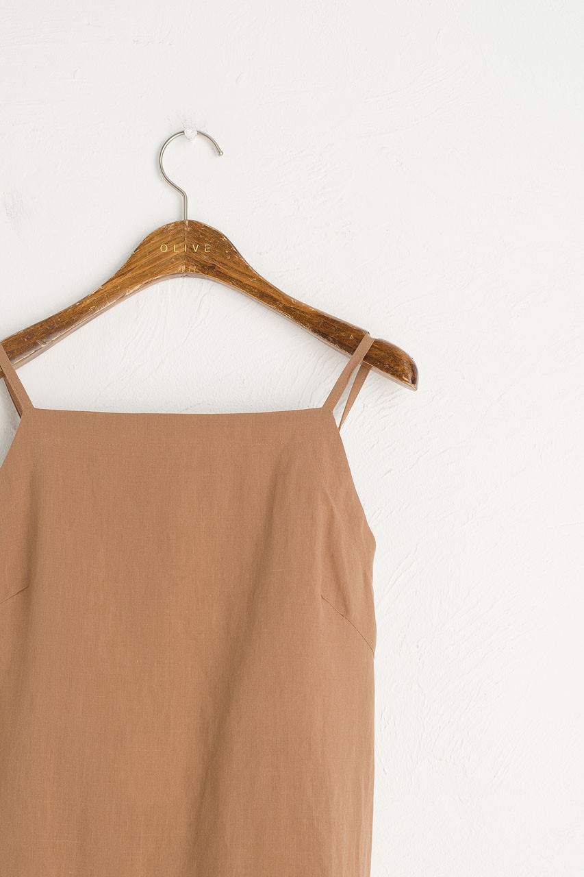 Tie Back Cami Dress, Brown
