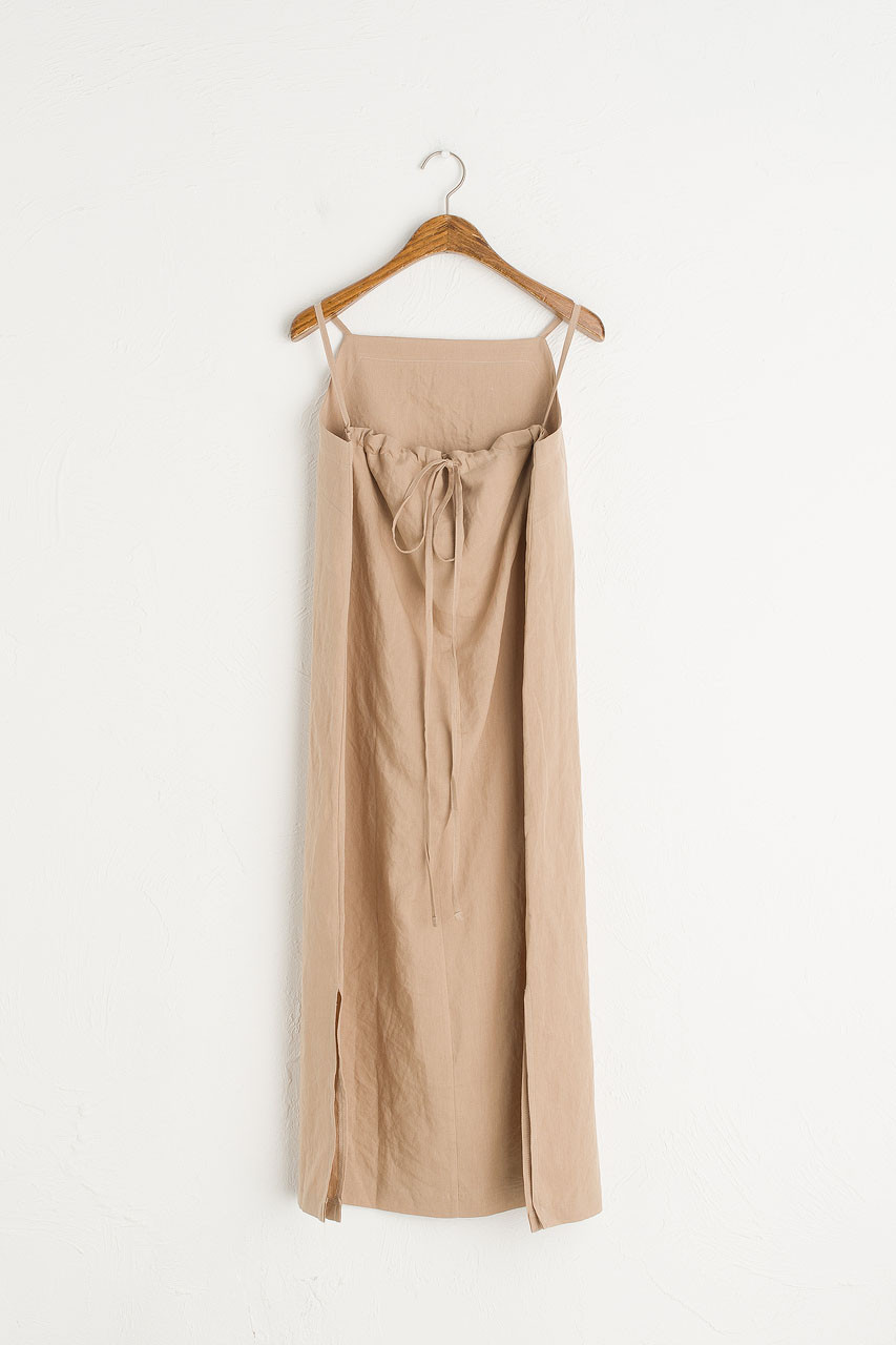 Tie Back Cami Dress, Light Beige