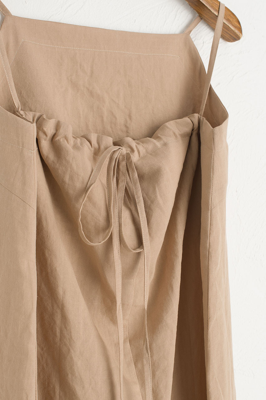 Tie Back Cami Dress, Light Beige