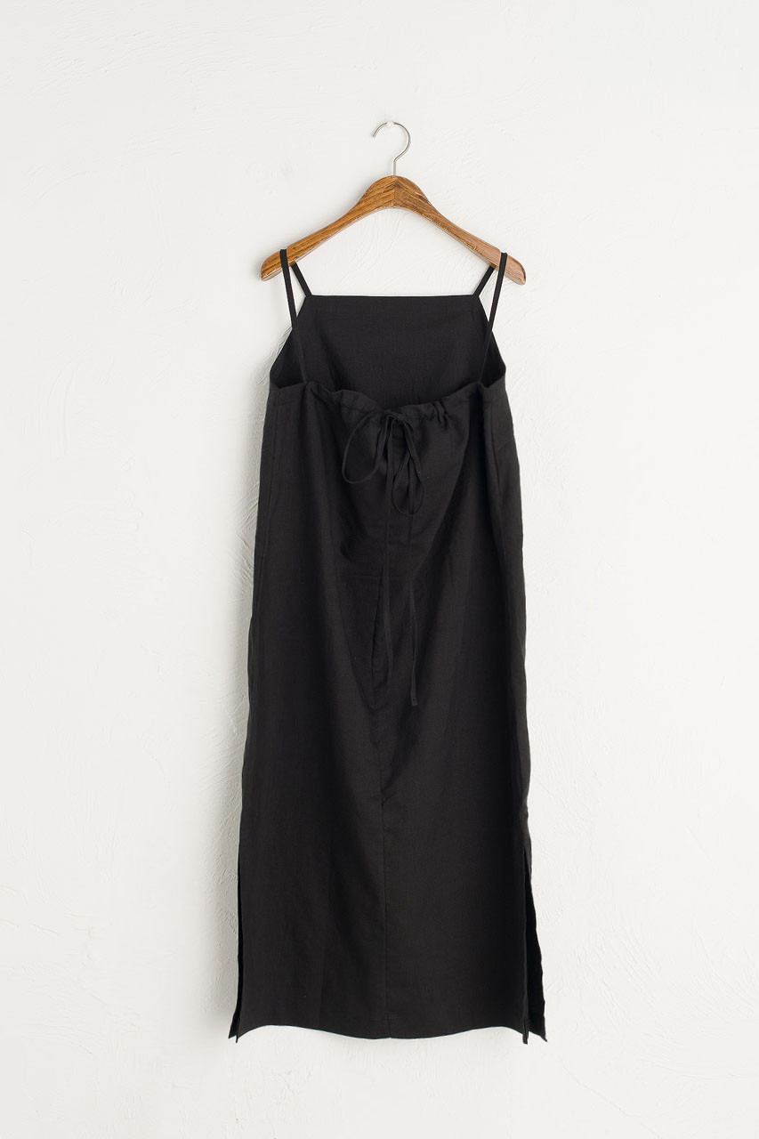 Tie Back Cami Dress, Black