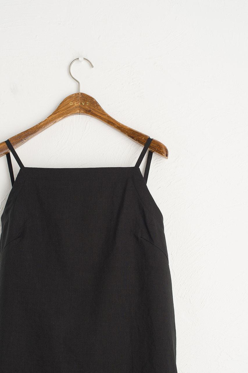 Tie Back Cami Dress, Black