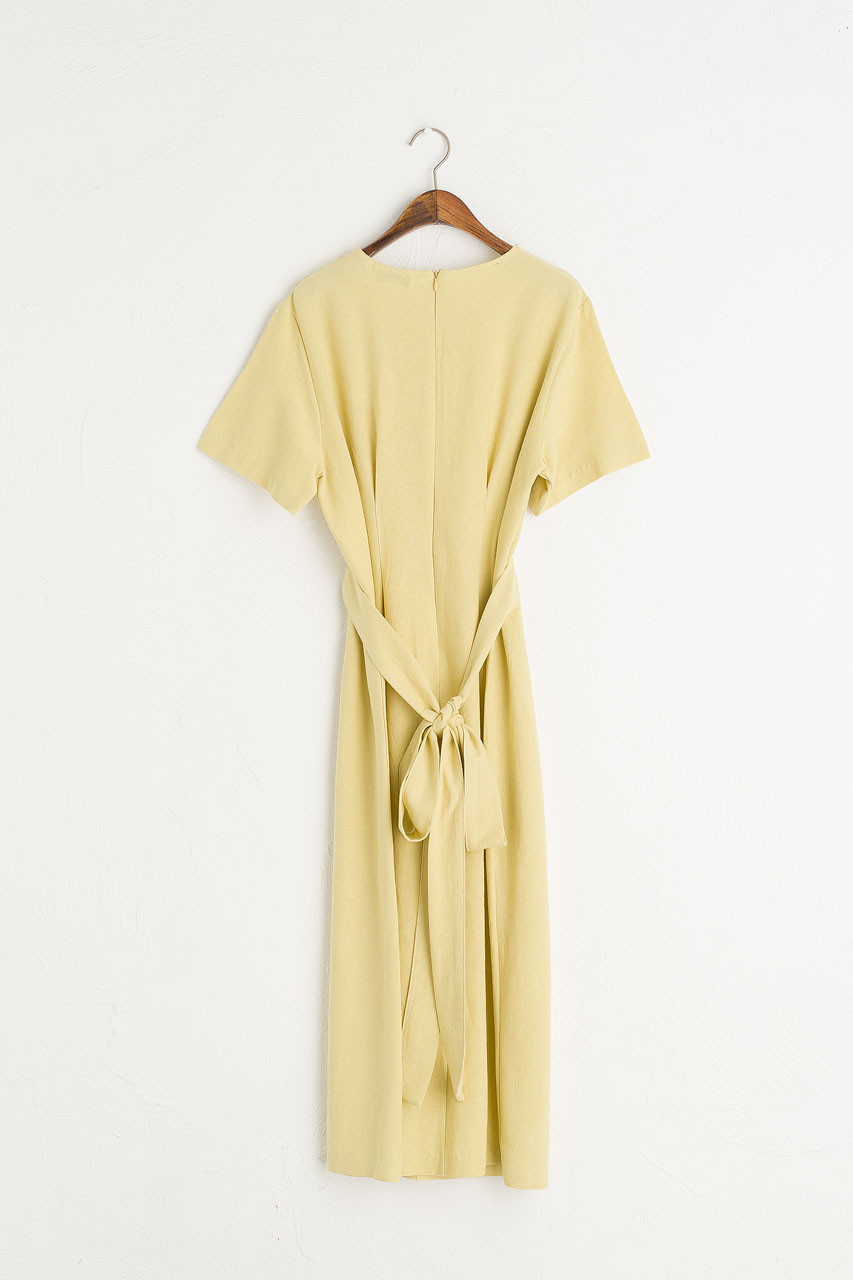 Dana Sash Long Dress, Lime