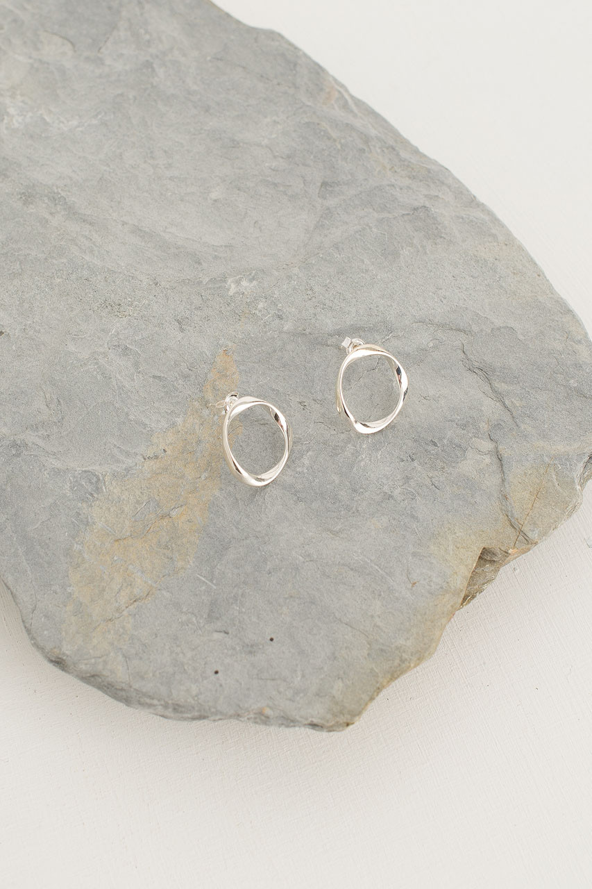 Silver Circle Stud, Sterling Silver