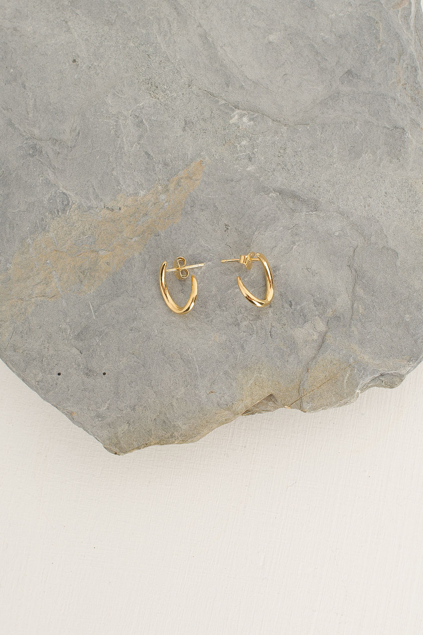Gold Wind Stud, 18K Gold Plated