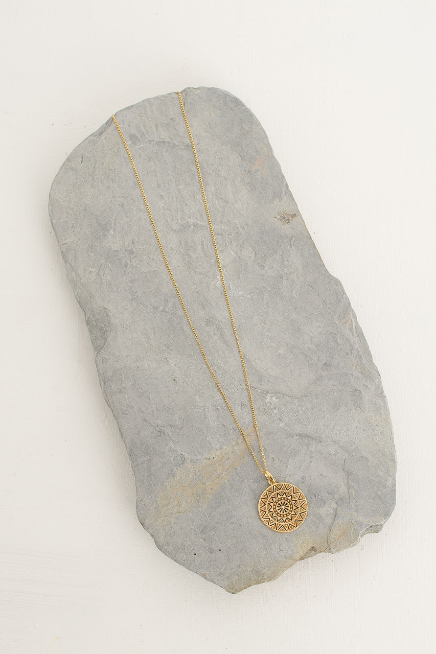 Saffron Necklace, 18K Gold Plated