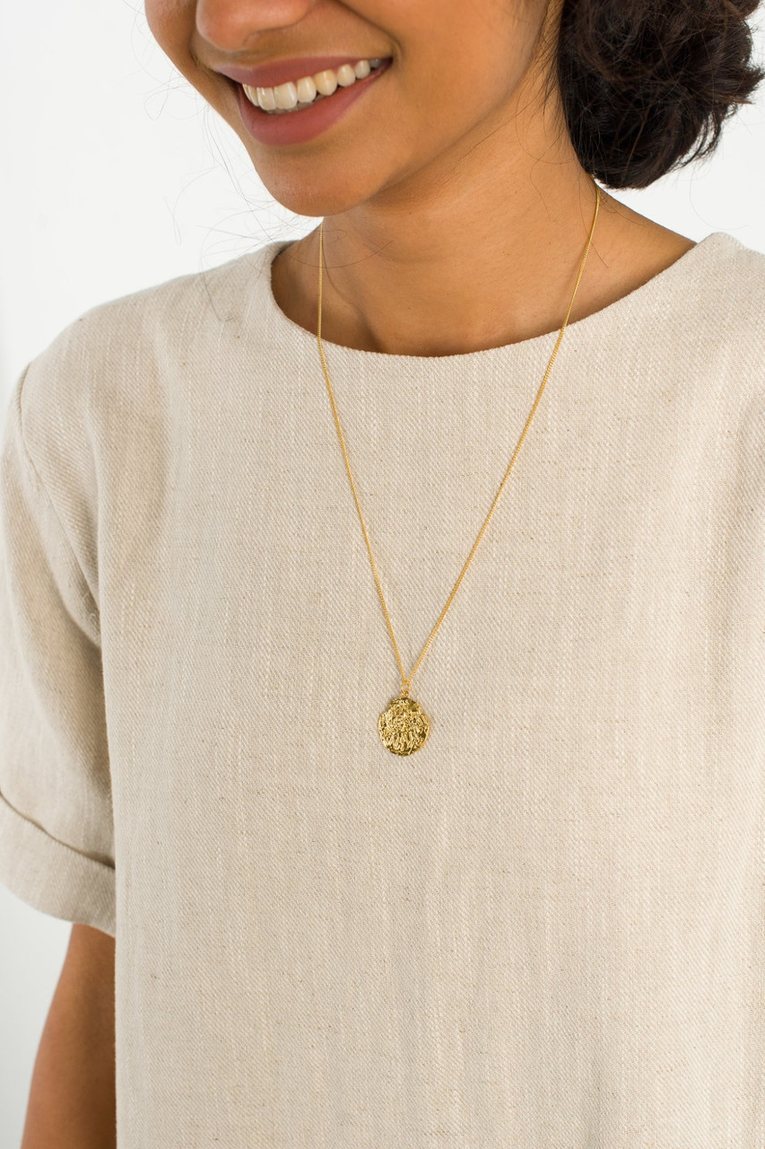 Petra Necklace, 18K Gold Plated