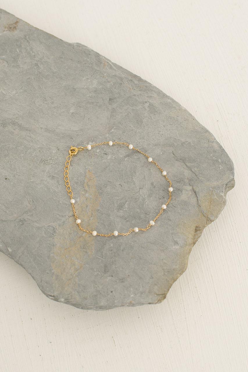 Diana Pearl Bracelet, 18K Gold Plated