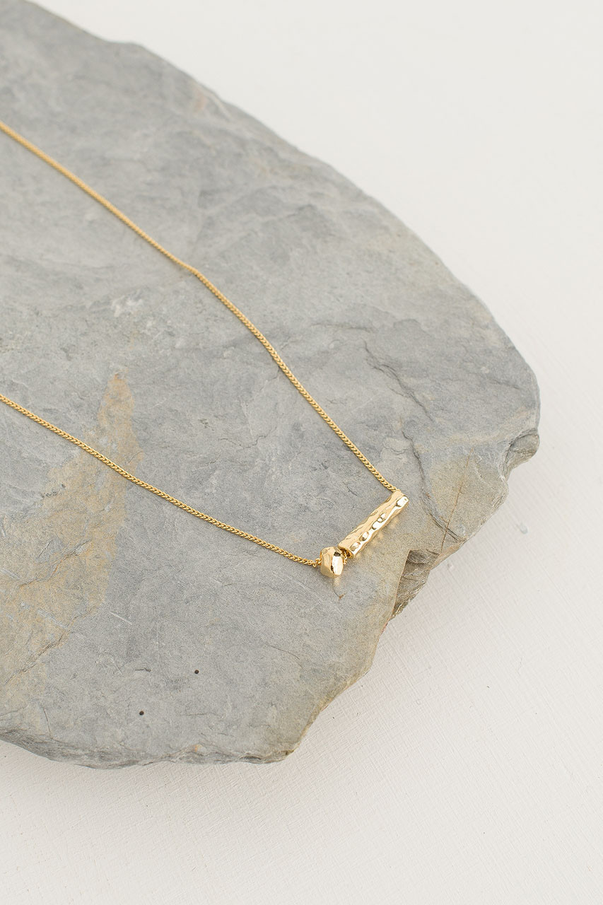 Abacus Necklace, Gold Plated
