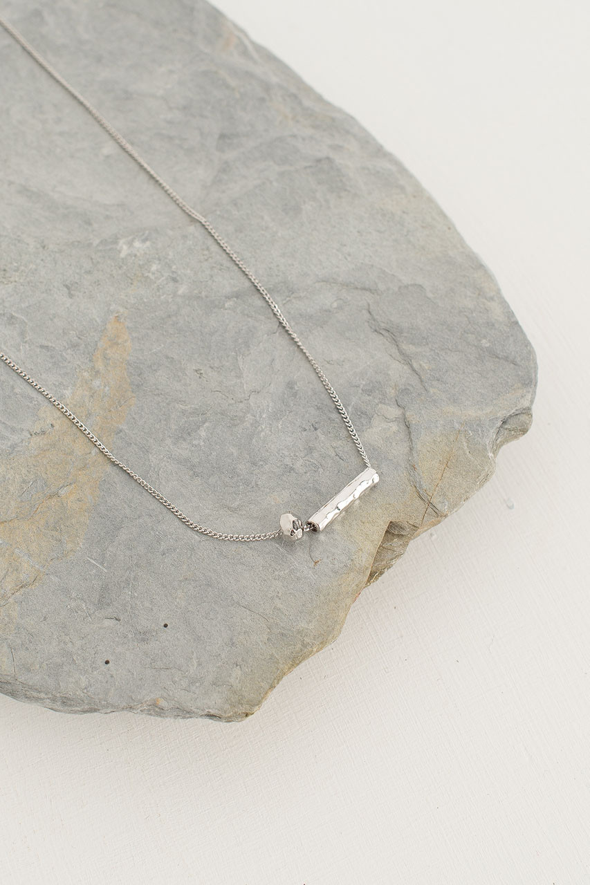 Abacus Necklace, Silver Plated