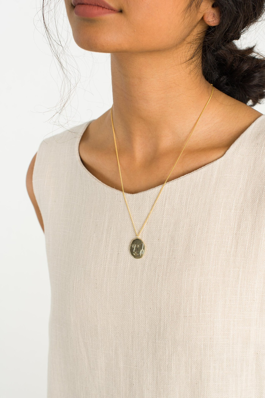 Jeanne Necklace, Gold Plated