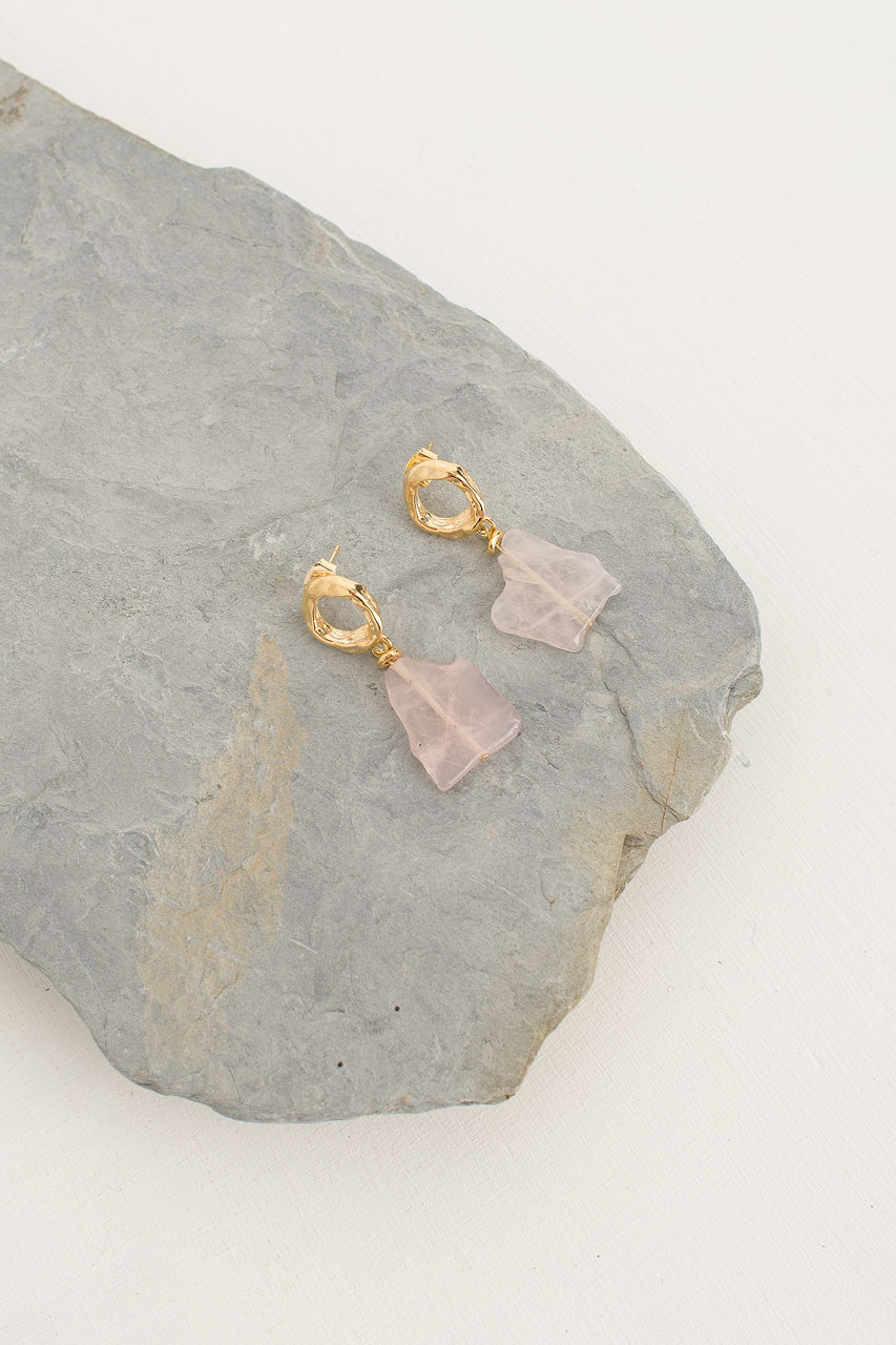 Maku Earrings, Gold Plated