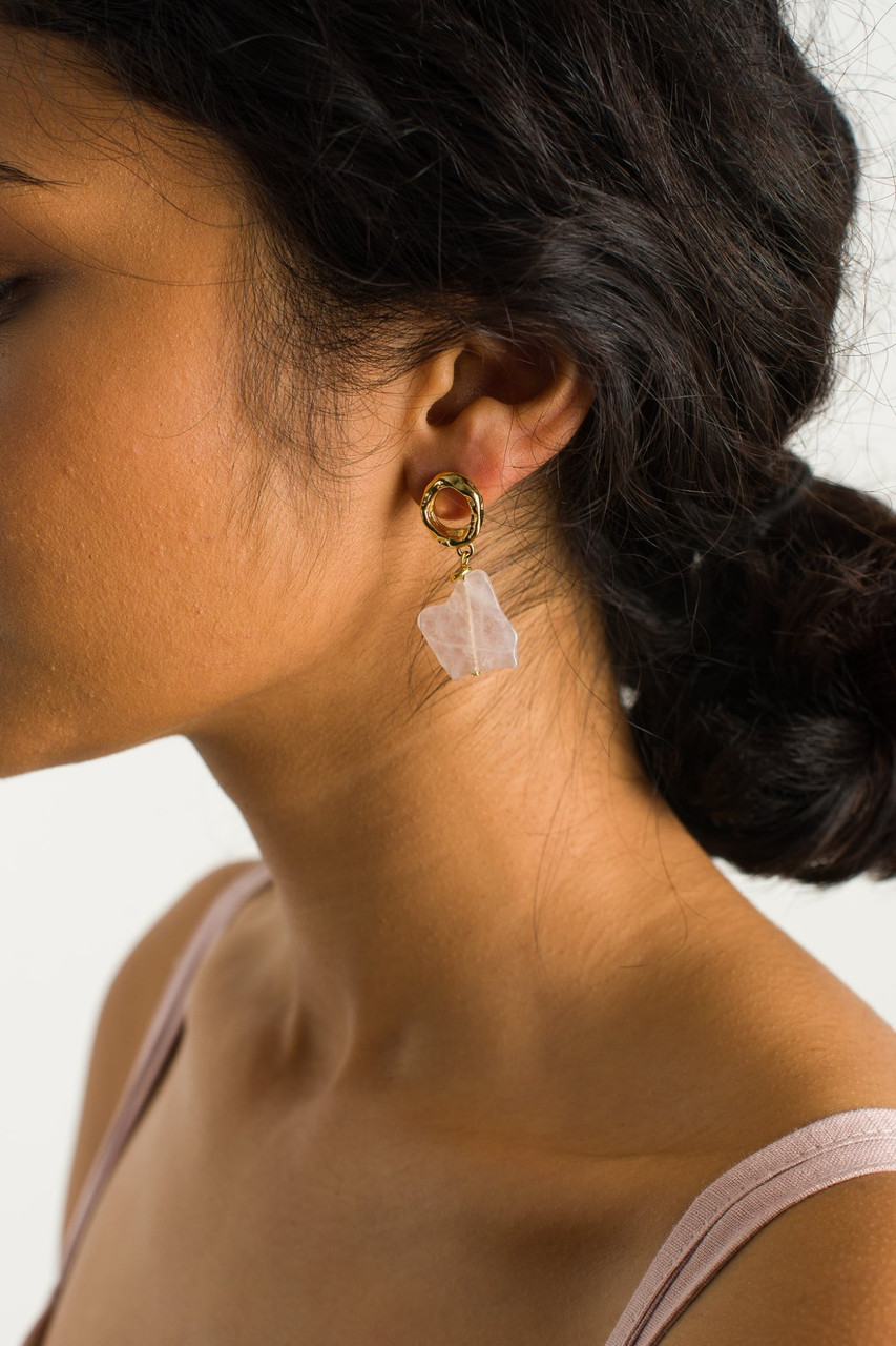 Maku Earrings, Gold Plated