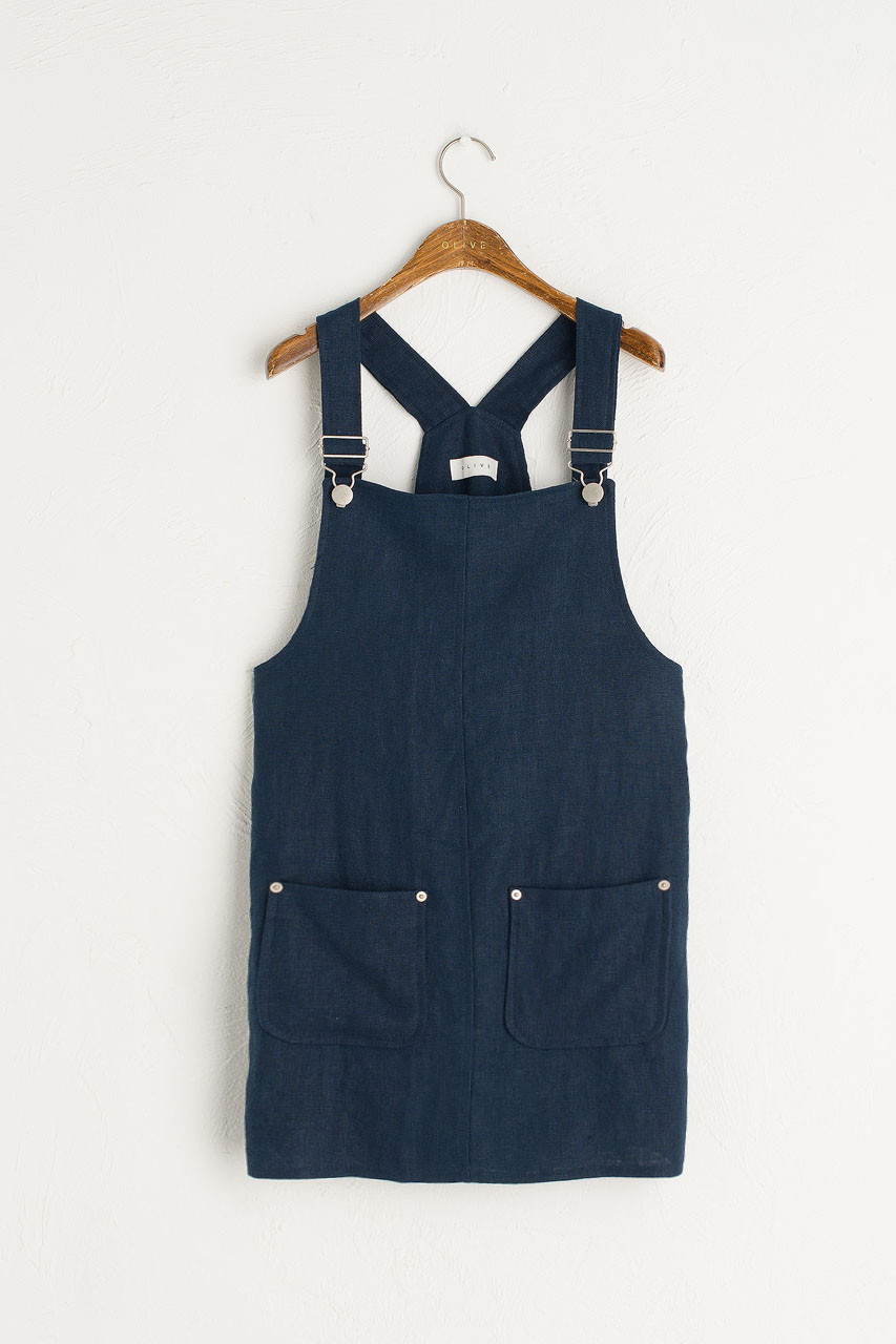 d6f578105b4 Simple Linen Dungaree Dress, ...