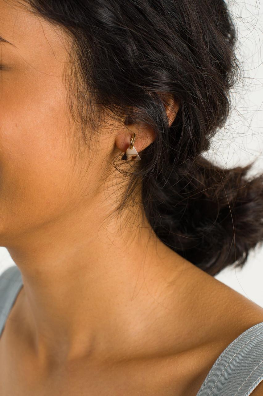 Lene Earrings, Gold Plated/Brown