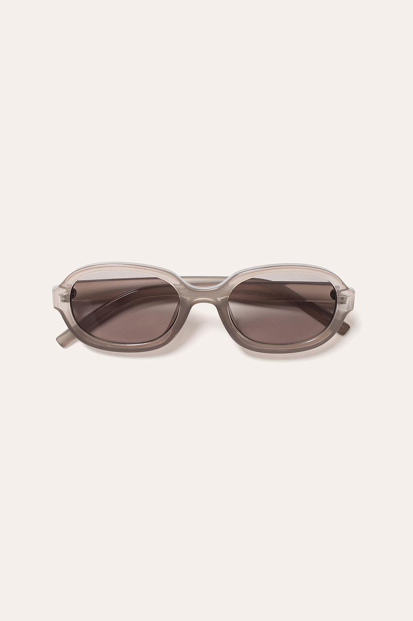 Menswear | Visby Sunglasses, Transparent Grey