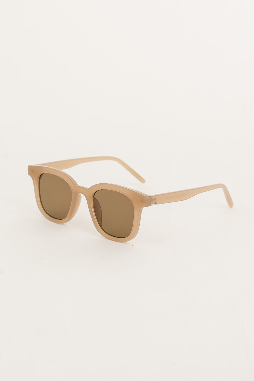 Castro Sunglasses, Transparent Beige