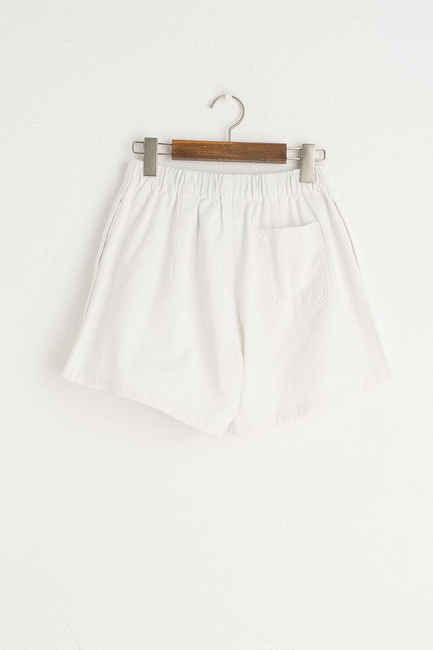 Utility Belted Shorts, Ivory