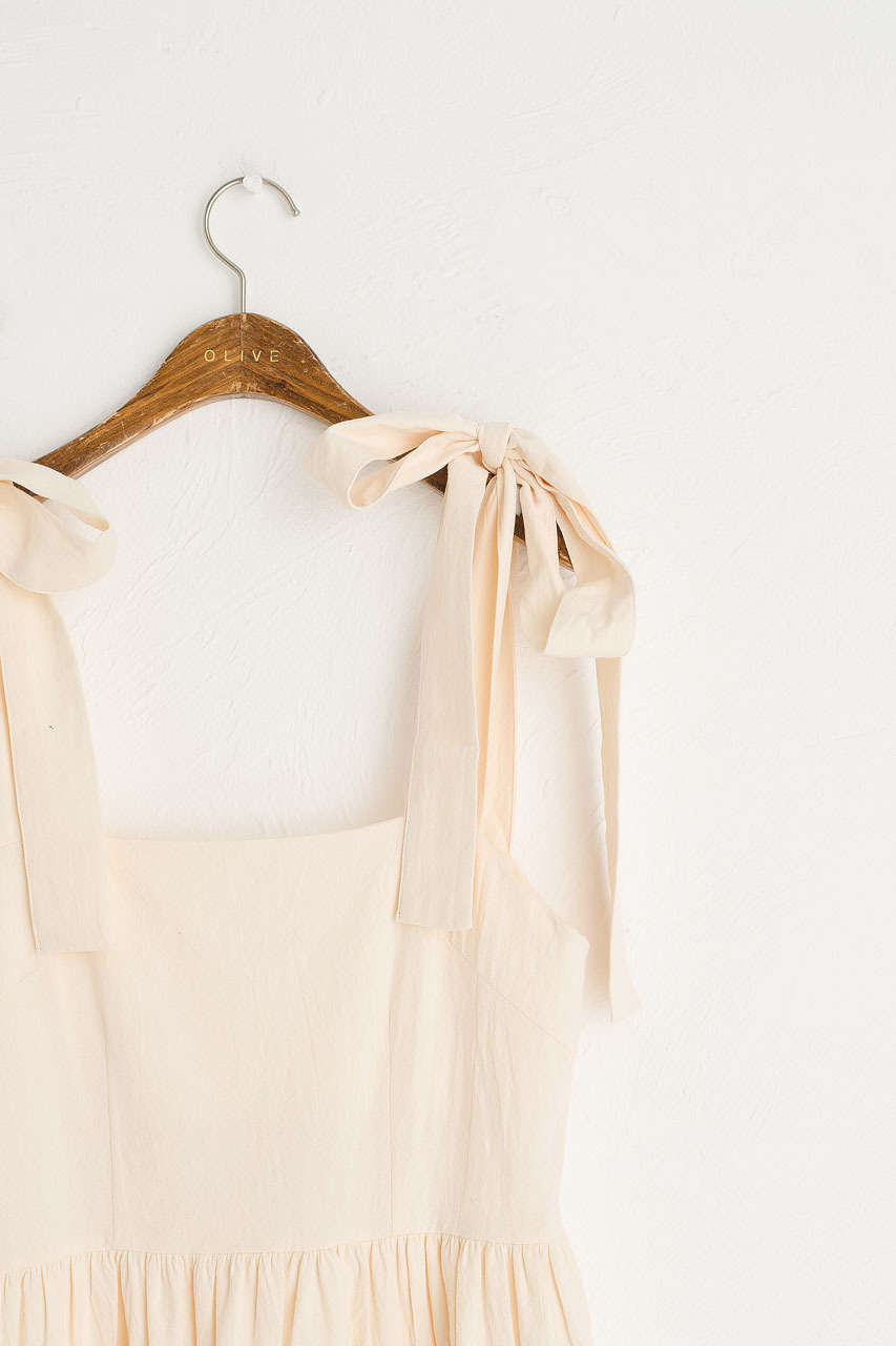 Belle Ribbon Dress, Cream
