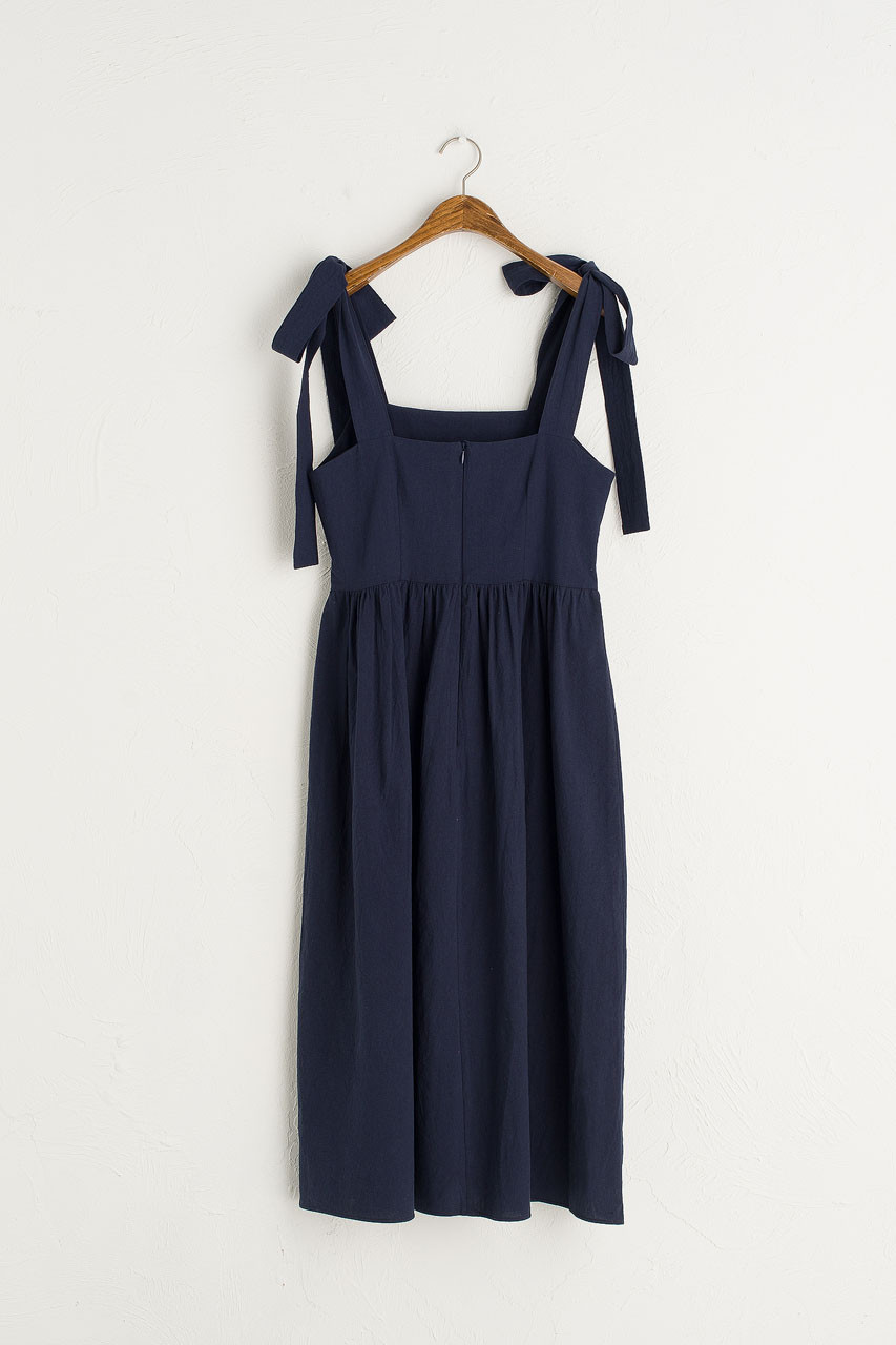 Belle Ribbon Dress, Navy