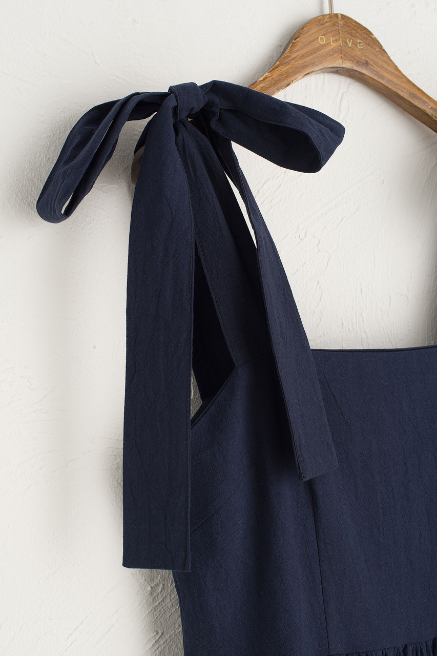 Belle Ribbon Dress, Navy