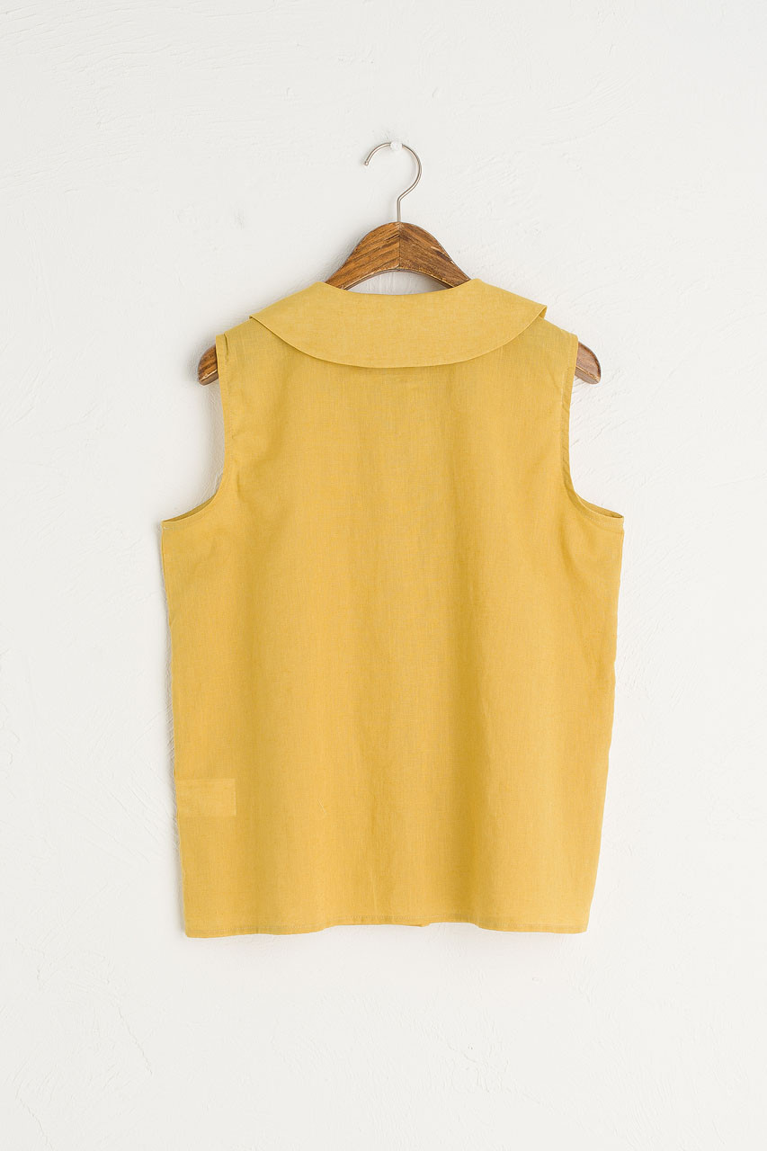 Amelie Sleeveless Blouse, Mustard
