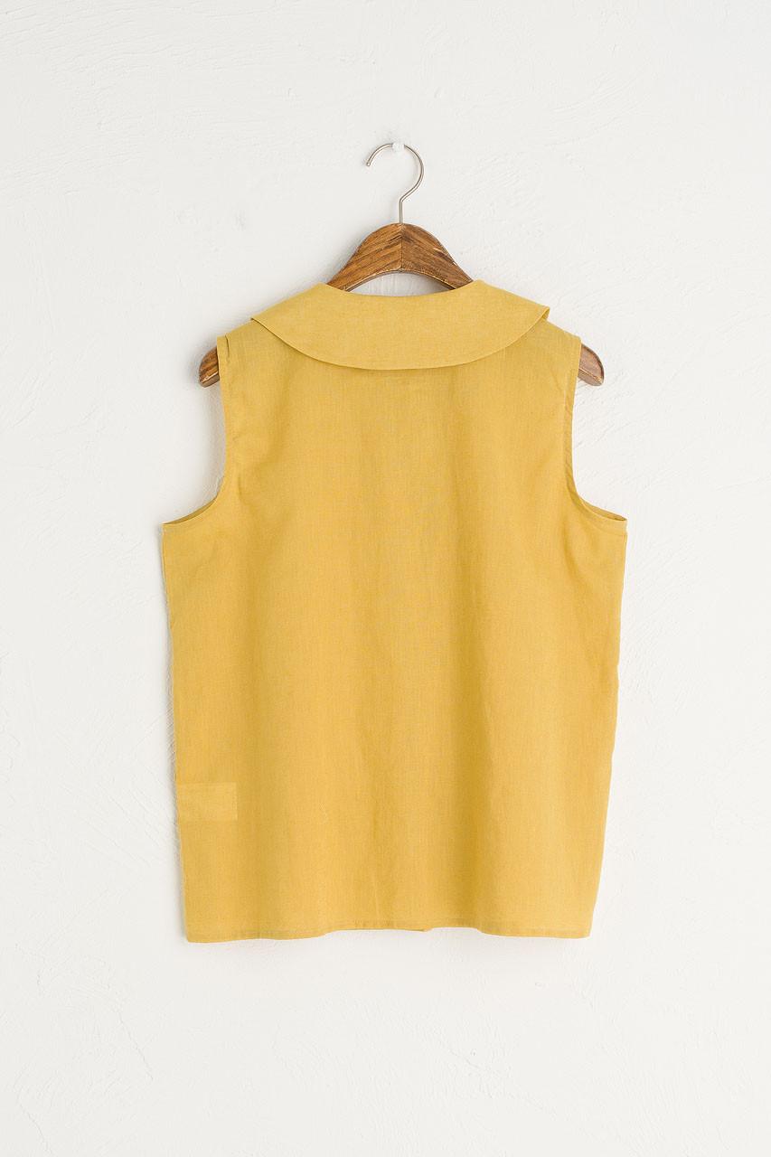 Amelie Sleeveless Blouse, Mustard