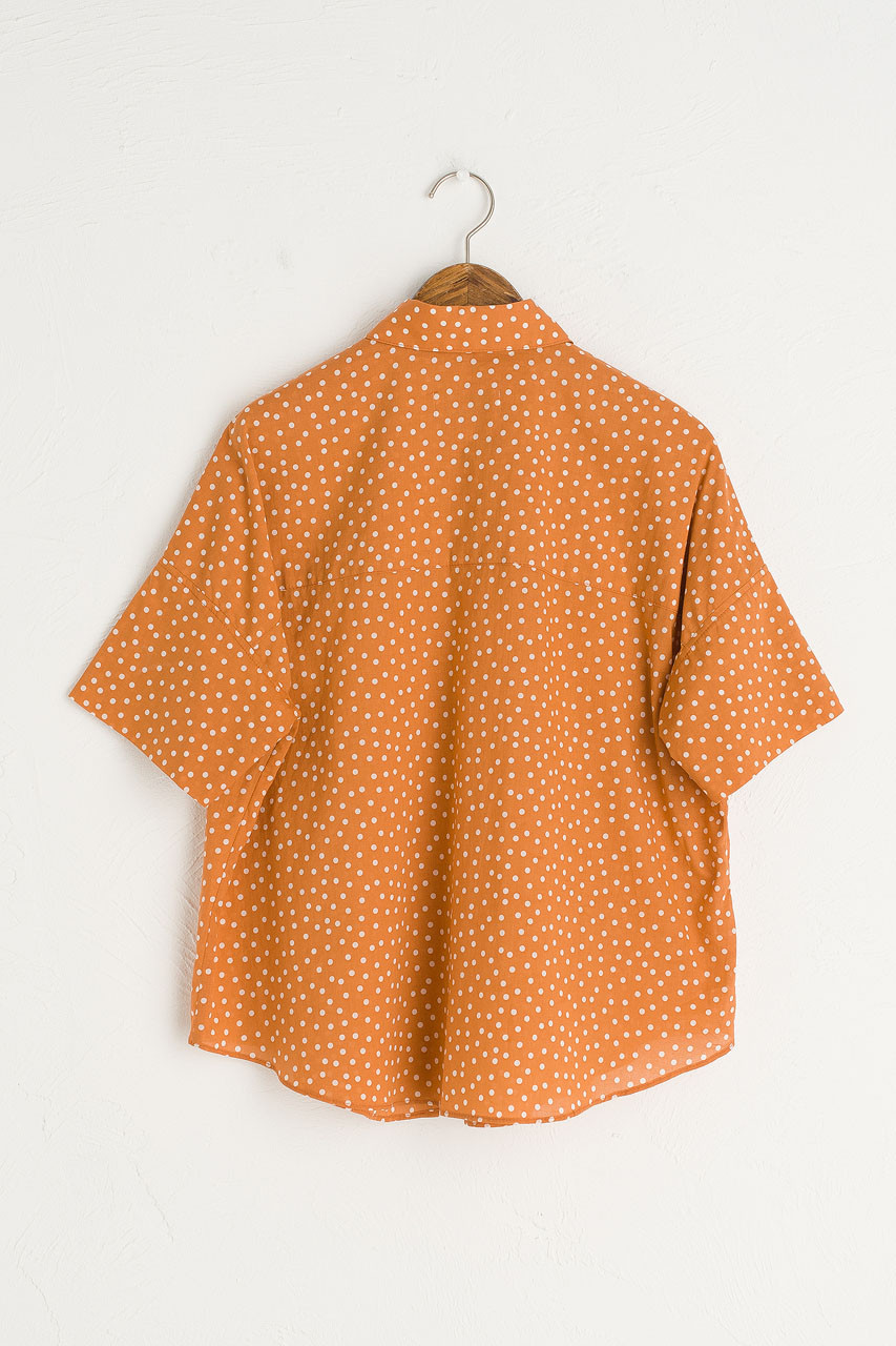 Jane Dot Shirt, Orange