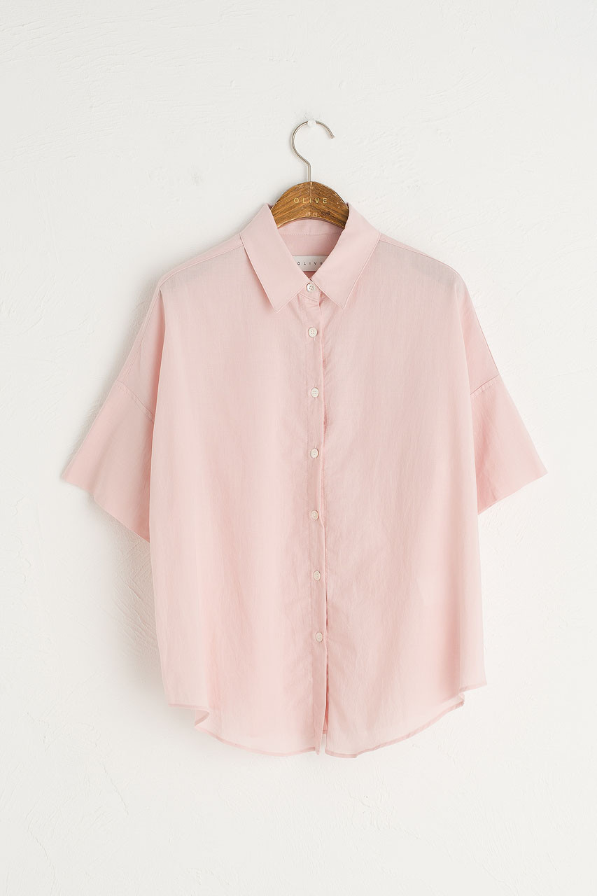 Jane Simple Blouse, Pink