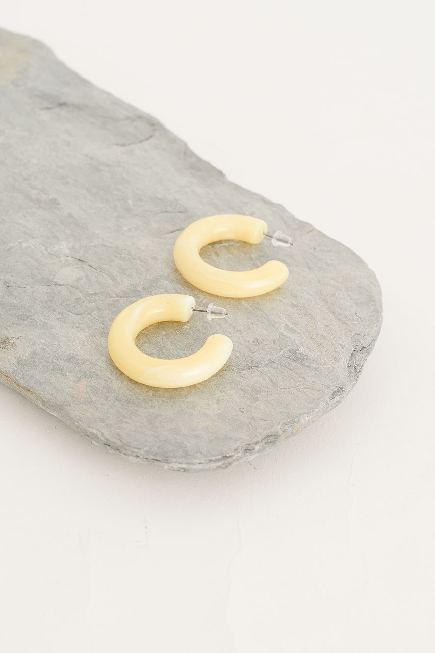 Pastel Hoop Earring, Lemon