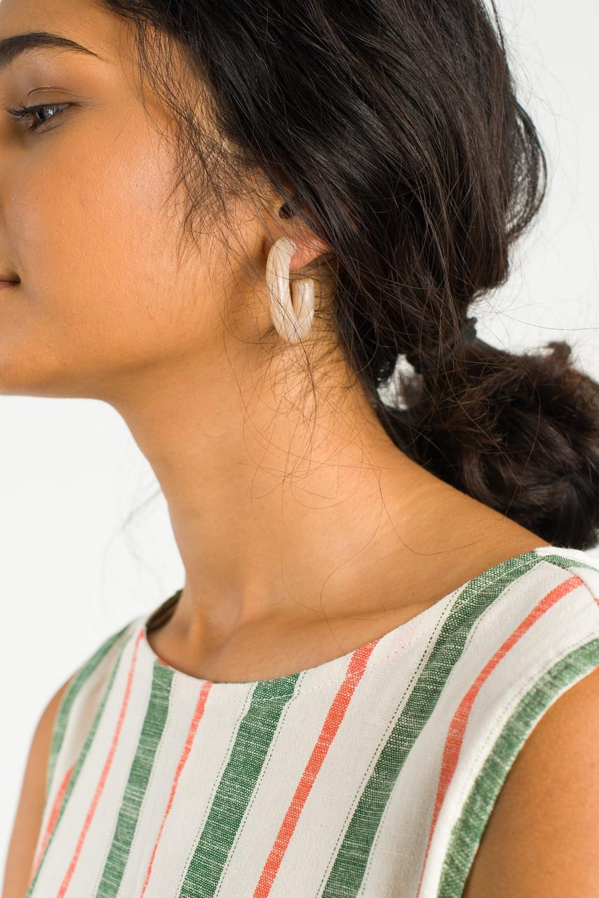 Pastel Hoop Earring, Beige