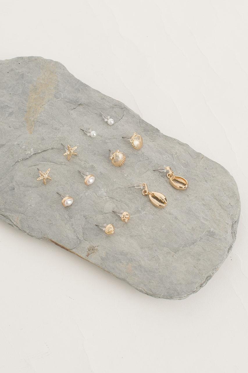 Seaside Earring Set, Gold Plated
