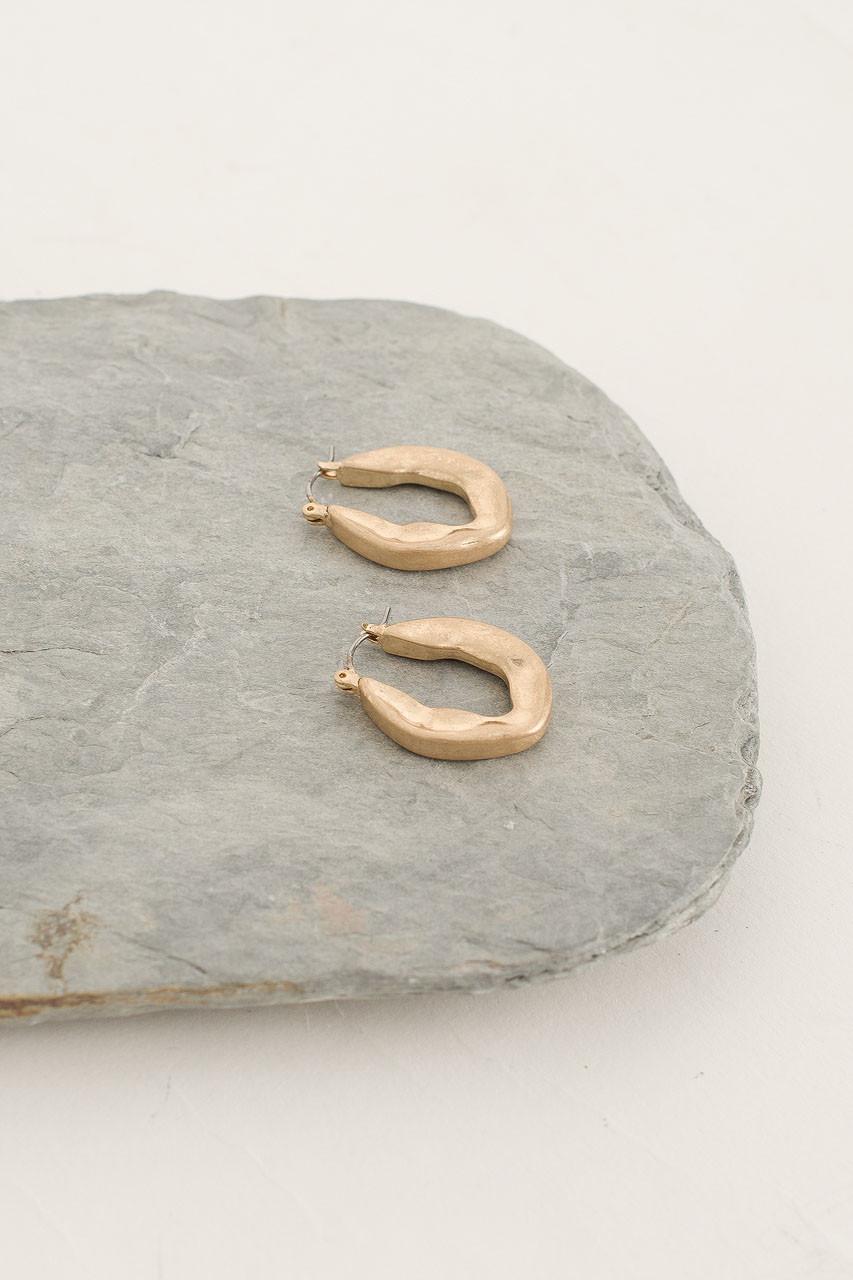 Sophia Hoop Earring, Gold Plated