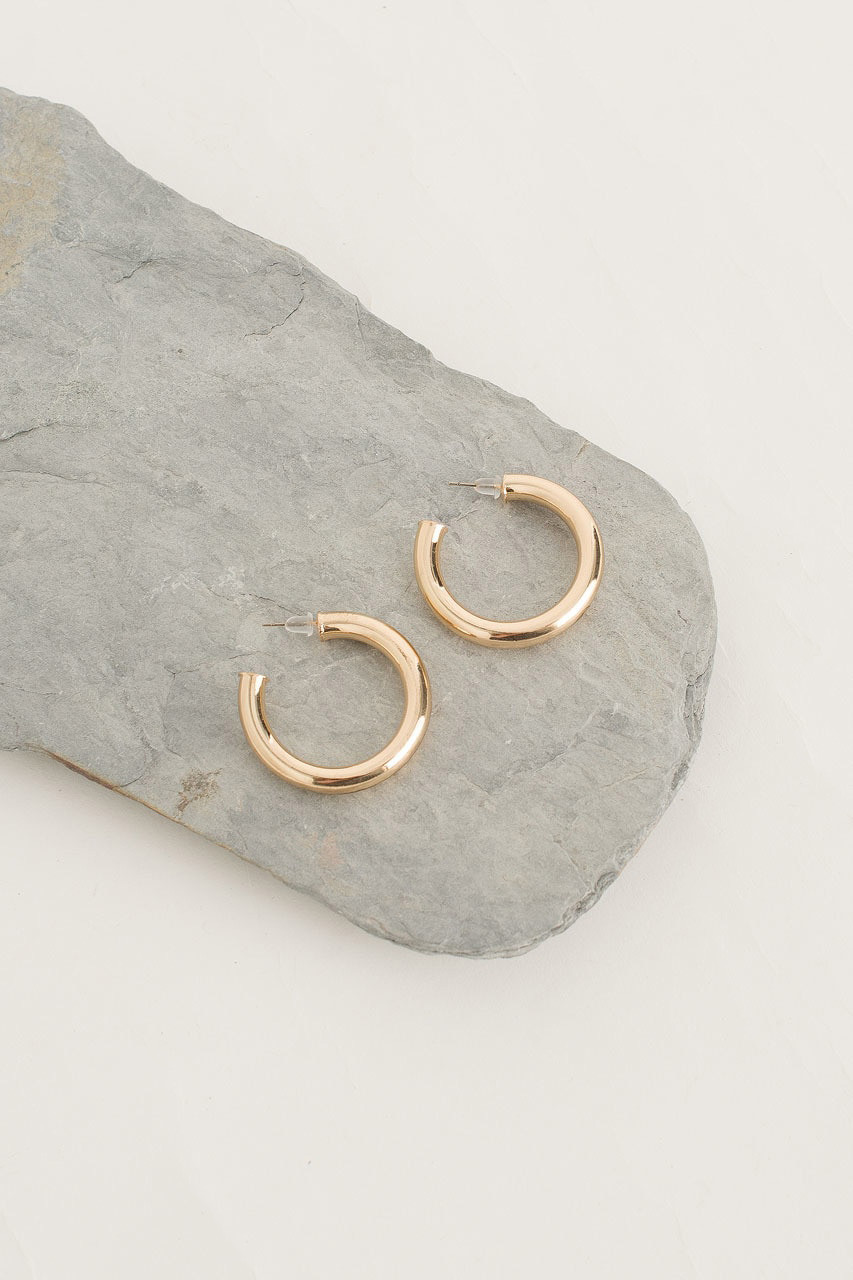 Simple Circle Hoop, Gold Plated