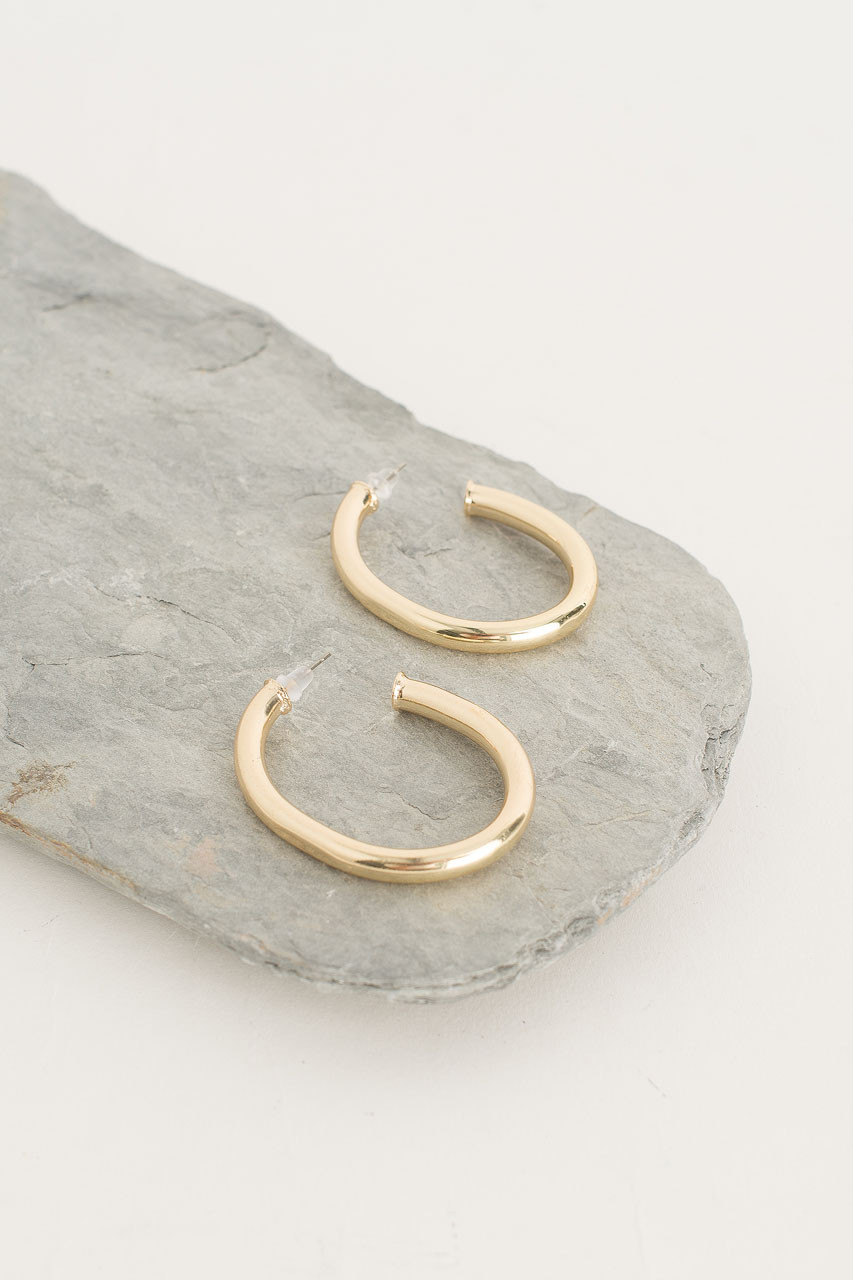 Simple Large Hoop, Gold Plated