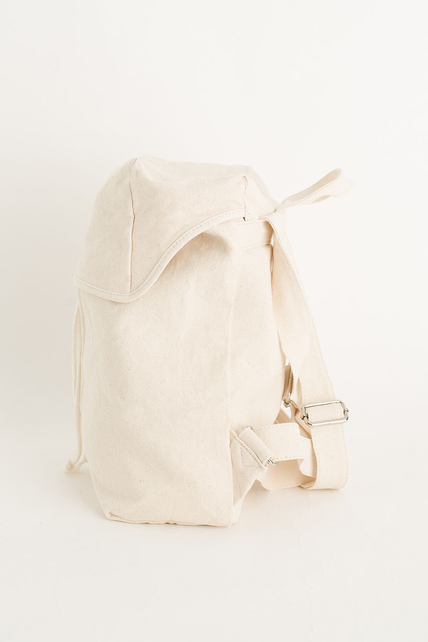 Canvas  Back Pack, Ivory