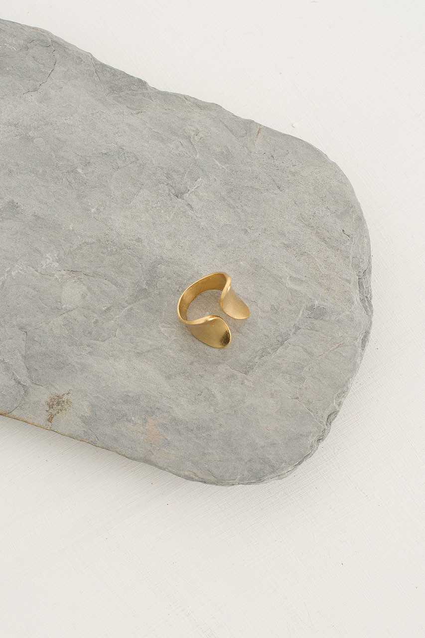 Tulip Ring, Gold Plated